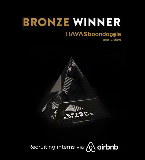 Bronze Epica voor Recruitment via Airbnb